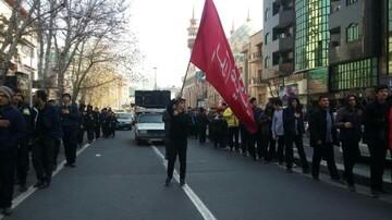 دسته عزاداری نوگلان فاطمی ویژه دانش آموزان تهرانی برگزار شد+ عکس