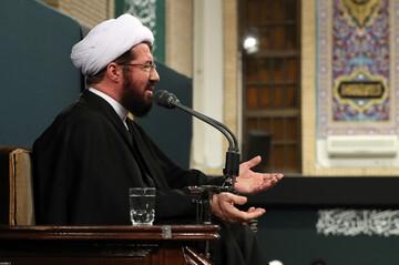 صوت| سخنرانی حجت الاسلام والمسلمین عالی در حضور رهبر انقلاب