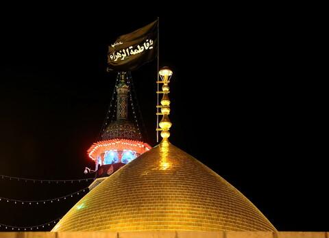 تصاویر/ حال و هوای حرم حضرت معصومه(س) در شب شهادت حضرت زهرا(س)
