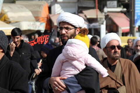 تصاویر / مراسم عزاداری حوزه علمیه همدان در روز شهادت حضرت زهرا(س)