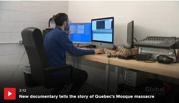 نمایش فیلم مستند در سومین سالگرد تیراندازی تروریستی در مسجد کبک