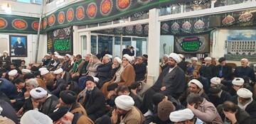 مراسم عزاداری حضرت زهرا (س) در دفتر آیت الله العظمی فاضل لنکرانی برگزار شد
