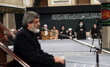 فیلم| مداحی حاج مهدی سماواتی در حضور رهبر انقلاب