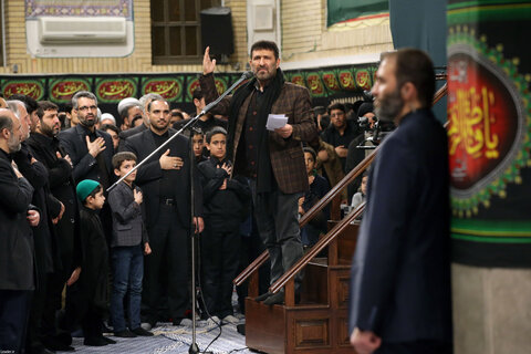 آخرین شب مراسم عزاداری حضرت فاطمهزهرا سلاماللهعلیها در حضور رهبر انقلاب
