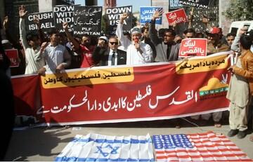 """مردم پاکستان علیه """"معامله قرن"""" به خیابان آمدند"""