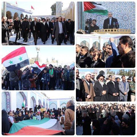 تظاهرات مردم سوریه علیه طرح معامله قرن