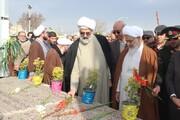 تصاویر/ مراسم گرامیداشت سالروز ورود حضرت امام (ره) در گلزار شهدای قزوین