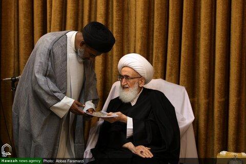 بالصور/ جمع من علماء الهند يلتقون بسماحة آية الله نوري الهمداني بقم المقدسة