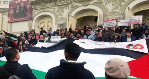 تظاهرات تونس علیه معامله قرن