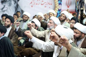 تصاویر/ تجدید بیعت حوزویان اهواز با رهبر معظم انقلاب