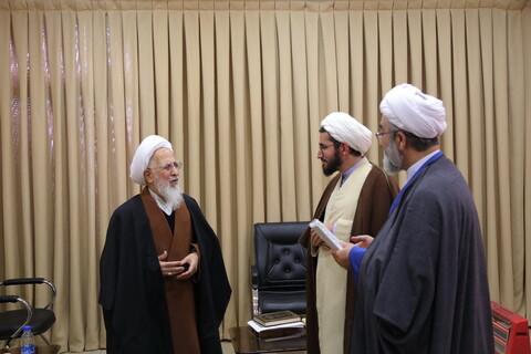 دیدار جمعی از اعضای شورای علمی همایش عرفان اهل بیتی با آیت الله العظمی جوادی