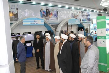 بازدید مدیران مراکز حوزوی از نمایشگاه ستاد اجرائی فرمان حضرت امام+ عکس