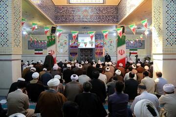 تصاویر/ مراسم گرامیداشت دهه فجر انقلاب اسلامی در مرکز مدیریت حوزههای علمیه