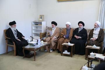 تصاویر/ دیدار اعضای شورایعالی حوزههای علمیه با رهبر معظم انقلاب
