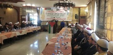 علمای لبنان و فلسطین در حمایت از قدس و مخالفت با معامله قرن نشستی برگزار کردند