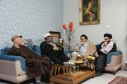 عیادت رئیس دانشگاه ادیان و مذاهب از استاد بابائی