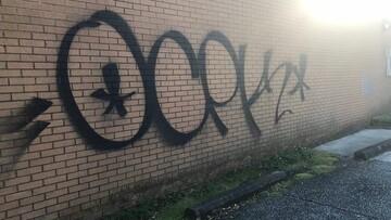 نگرانی مسلمانان چارلستون از تکرار شعارنویسی بر دیوار مسجد