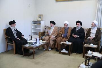 رهبر معظم انقلاب راهبردهای لازم را پیش روی اعضای شورای عالی حوزه گذاشتند