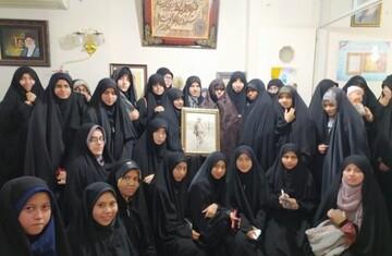 دیدار طلاب جامعه الزهرا (س) با خانواده شهید علیدوست