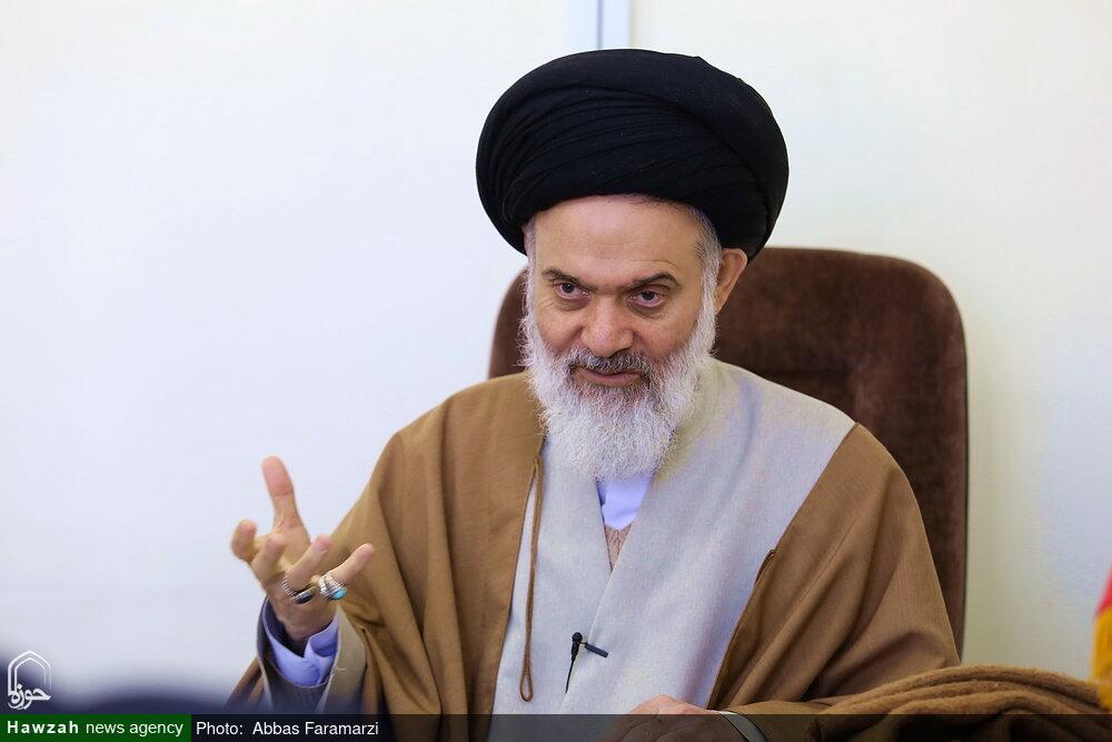 تصاویر/ مصاحبه با آیت الله بوشهری