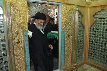 ضریح منور هلال بن علی(ع) آران و بیدگل عطر افشانی شد+ عکس