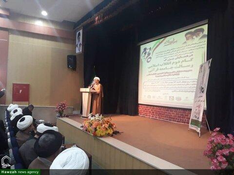 بالصور/ انعقاد مؤتمرين لمناقشة الخطوة الثانية للثورة الإسلامية في مدينتي بستان آباد وهشترود الإيرانيتين