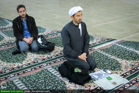 """بالصور/ انعقاد مؤتمر تحت عنوان """"الثورة الإسلامية وعلماء الدين"""" في مدرسة الفيضية العلمية بقم المقدسة"""