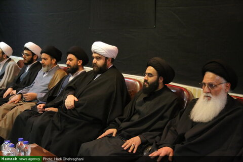 بالصور/ مجلس تأبين للفقيد آية الله محمد باقر الخوانساري بقم المقدسة