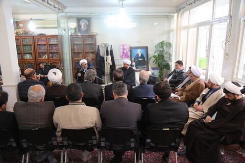 تصاویر/دیدار جمعی از اساتید دانشگاه های قزوین یا آیت الله فاضل