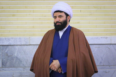 حضور مسئول مرکز ارتباطات و بین الملل حوزههای علمیه در جمع طلاب قروهای