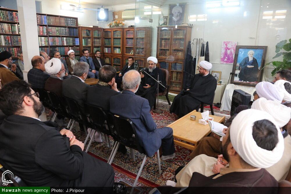 تصاویر/ دیدار جمعی از اساتید دانشگاههای قزوین یا آیت الله فاضل