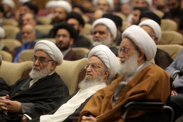 تصاویر/ مراسم اربعین شهیدان حاج قاسم سلیمانی و ابومهدی المهندس و حمایت از جبهه مقاومت در قم-۱