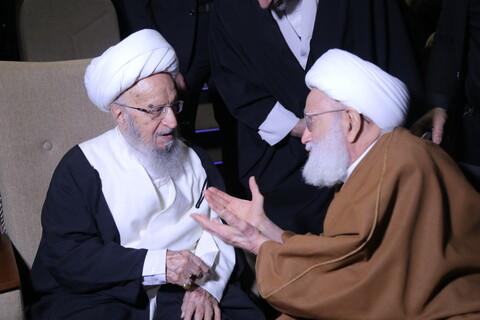 حاشیههای اربعین شهیدان حاج قاسم سلیمانی و ابومهدی المهندس و حمایت از جبهه مقاومت در قم
