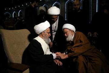 تصاویر/ حاشیههای اربعین شهیدان حاج قاسم سلیمانی و ابومهدی المهندس و حمایت از جبهه مقاومت در قم-۲