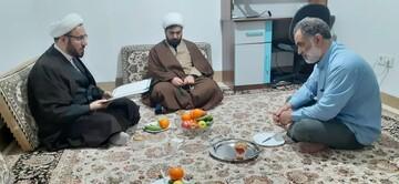نمایندگان مرکز مدیریت حوزه علمیه در منزل روحانیون جانباز حضور یافتند