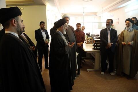 بازدید امام جمعه نجف از رسانه رسمی حوزه