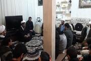 تصاویر/ حضور طلاب کرمانشاه در منزل شهید امنیت وطن سرگرد ایرج جواهری