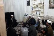 دیدار روحانیون کرمانشاه با خانواده شهید امنیت وطن