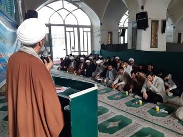 تصاویر/ مراسم چهلم شهیدحاج قاسم سلیمانی در مدرسه علمیه آیت الله مدنی (ره) کاشان