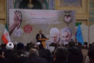 تصاویر / مراسم گرامیداشت ایام الله دهه فجر و چهلمین روز شهادت سردار سلیمانی در دانشگاه تبریز