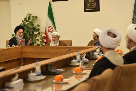 تصاویر/ دیدار امام جمعه نجف با اعضای جامعه مدرسین حوزه علمیه قم