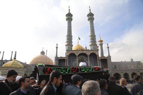 تصاویر / مراسم تشییع پیکر آیت الله طبرسی در شهر مقدس قم