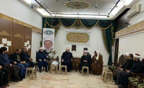 لقاء وفد من جامعة المصطفى بالشيخ جبري