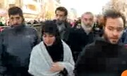 فیلم| حضور فرزندان حاج قاسم در راهپیمایی ۲۲ بهمن