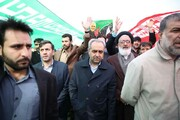 نماینده ولی فقیه و استاندار قم در راهپیمایی ۲۲ بهمن شرکت کردند
