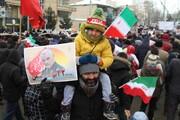قیام انقلابی مردم دارالمؤمنین همدان در سرمای منفی ۱۰ درجه