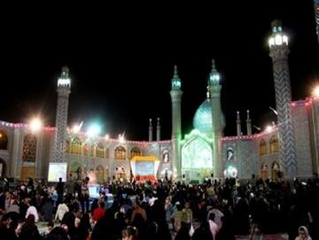 جشن شادی ۲۲ بهمن در حرم هلال بن علی(ع) آران و بیدگل