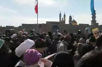 فیلم| حضور باشکوه مردم قم در راهپیمایی ۲۲ بهمن