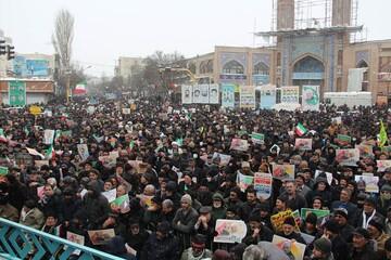 تصاویر/ راهپیمایی ۲۲ بهمن در اردبیل