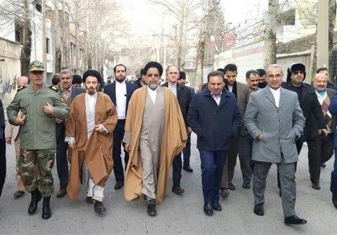 وزیر اطلاعات در راهپیمایی 22 بهمن خرم آباد